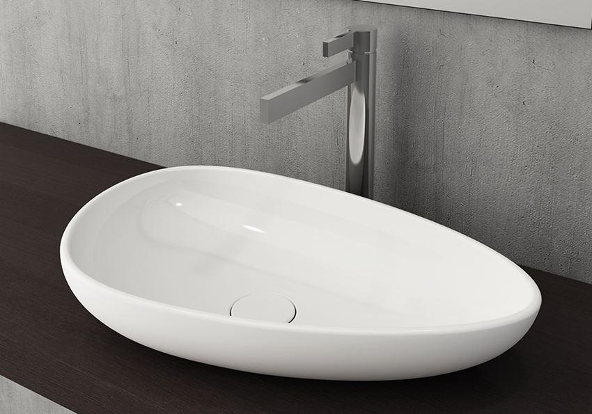 Umywalka nablatowa Glossy White Bocchi Etna