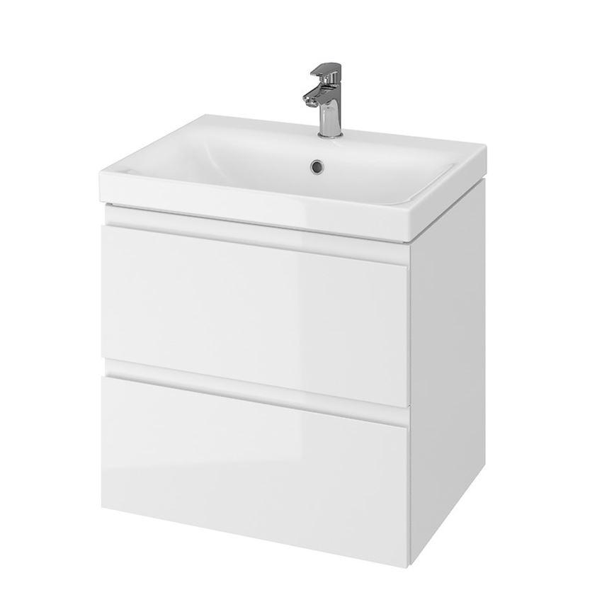 Szafka z umywalką 60 biała Cersanit Moduo