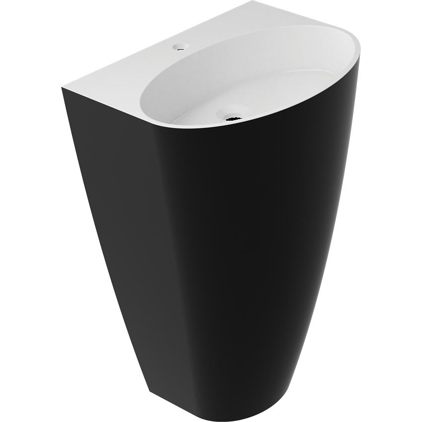 Umywalka 55x43x85 cm czarna Omnires Siena