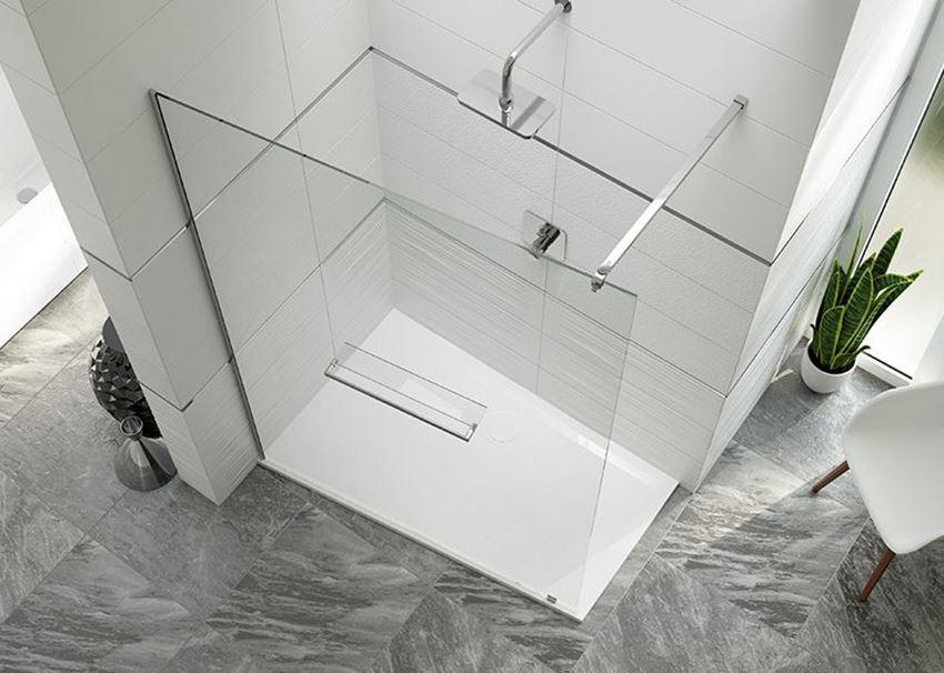 Kabina prysznicowa walk-in niesymetryczna Sanplast Altus