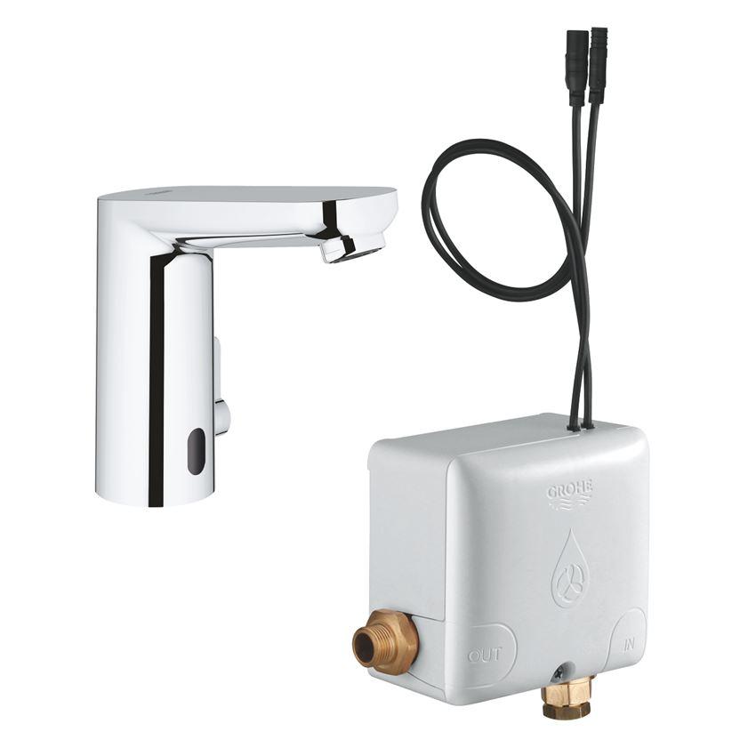 Elektroniczna bateria umywalkowa na podczerwień Grohe Eurosmart Cosmopolitan E Powerbox