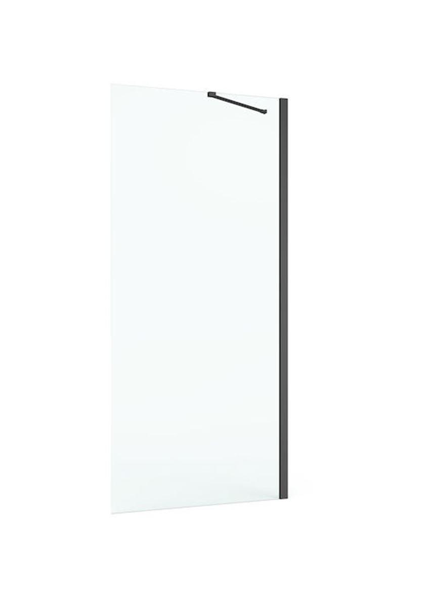 Ścianka boczna z powłoką MaxiClean profile czarny mat, 100x195 cm Roca Capital