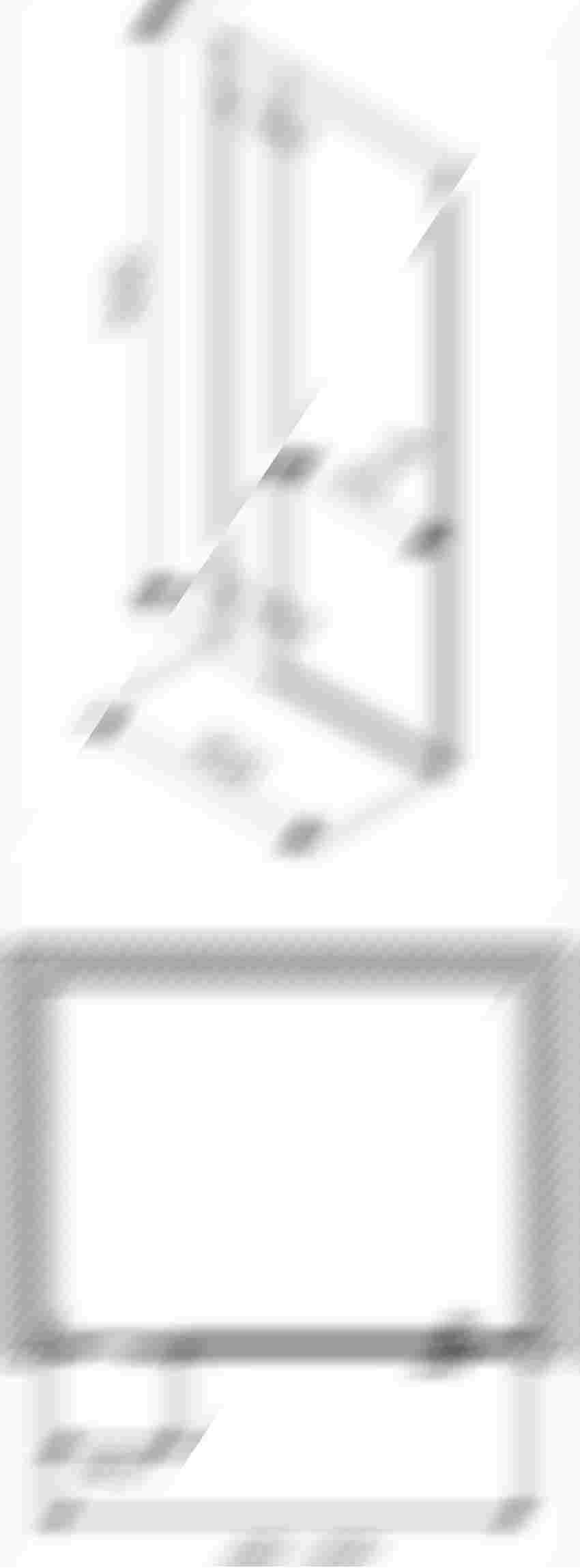 Drzwi lewostronne 90x195 cm Koło Next rysunek techniczny