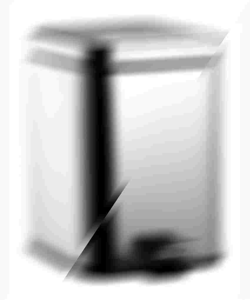Kosz na śmieci z pokrywą 19,2x24,8x28 cm Emco Loft