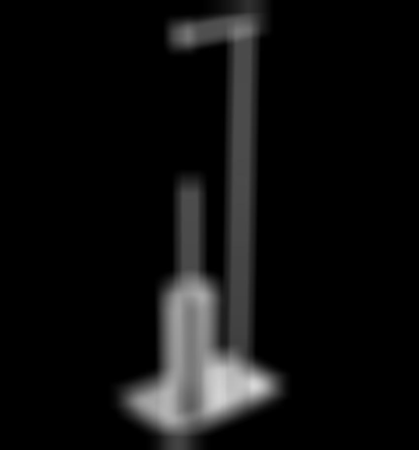 Kolumna wolnostojąca z uchwytem na papier i szczotką do WC Omnires Uni