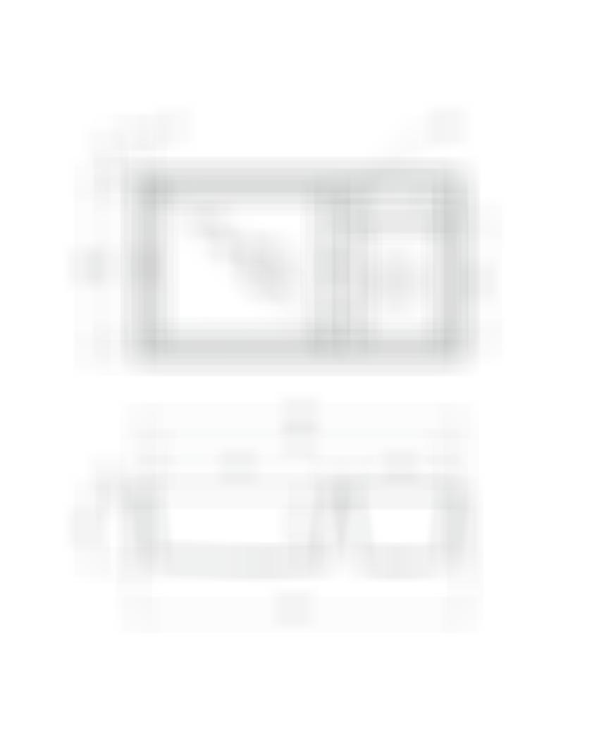 Zlewozmywak 2-komorowy bez ociekacza Deante Eridan rysunek techniczny