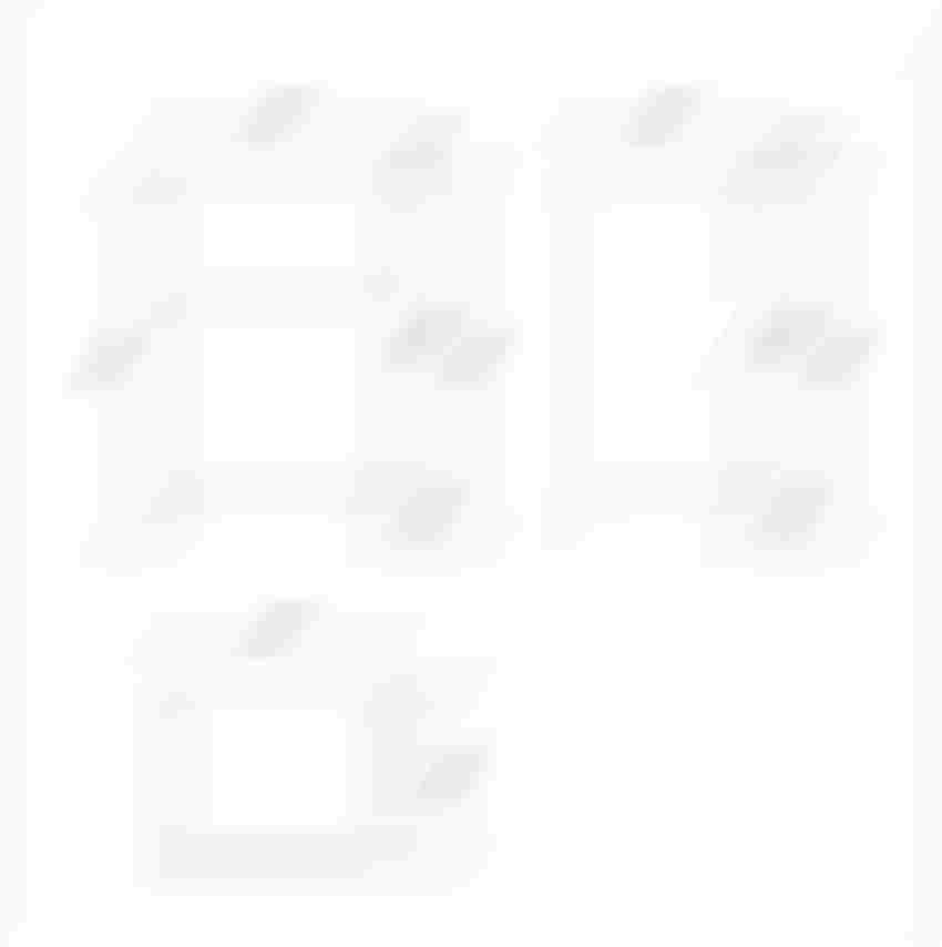 Szafka podumywalkowa 50 biała Cersanit Smart rysunek techniczny
