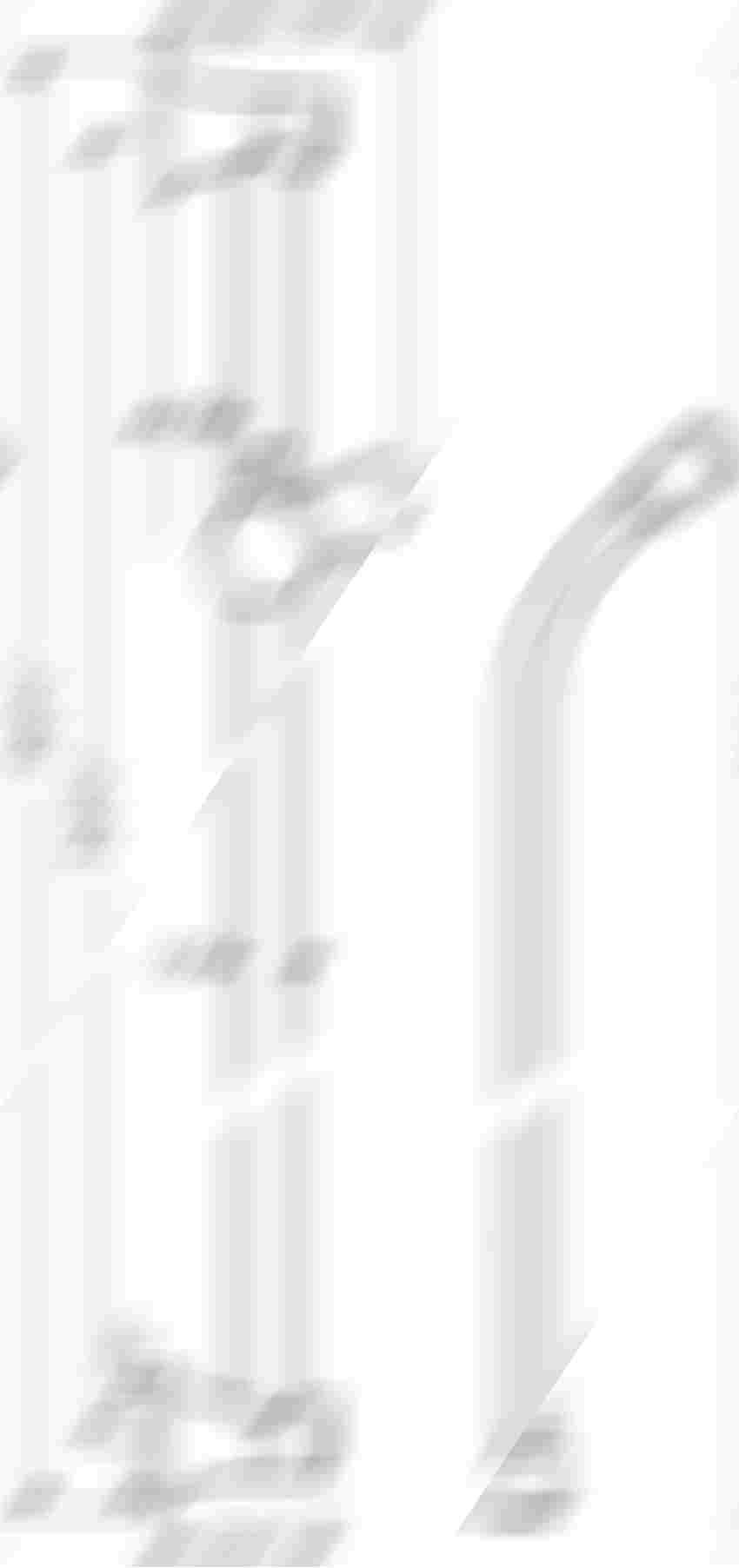 Drążek prysznicowy 65 cm z wężem Hansgrohe Unica rysunek techniczny
