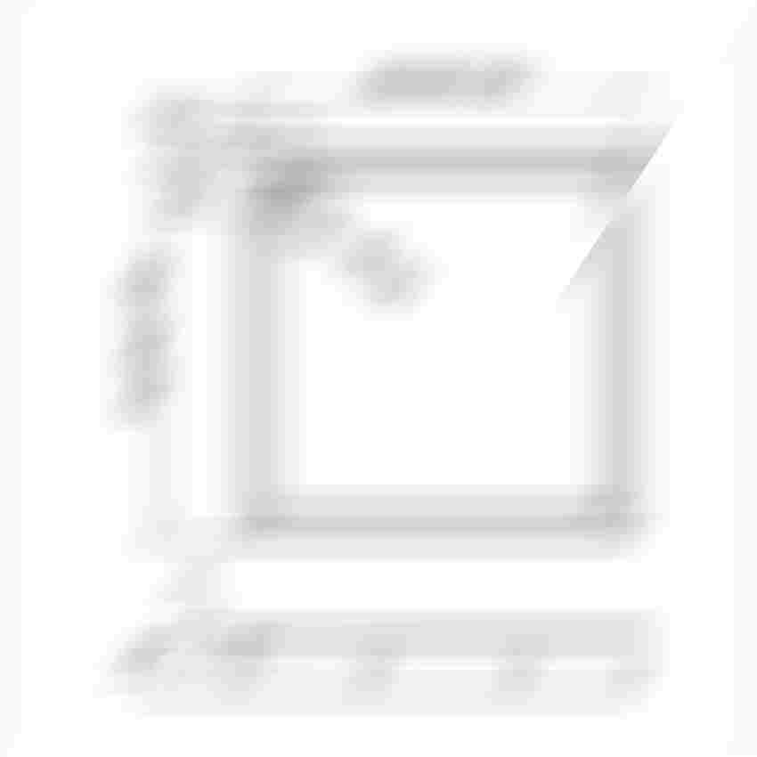 Brodzik kwadratowy New Trendy Columbus rysunek techniczny