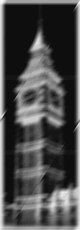 Obraz 6-elementowy 59,8x179,8 cm Tubądzin London Piccadilly Big Ben 2