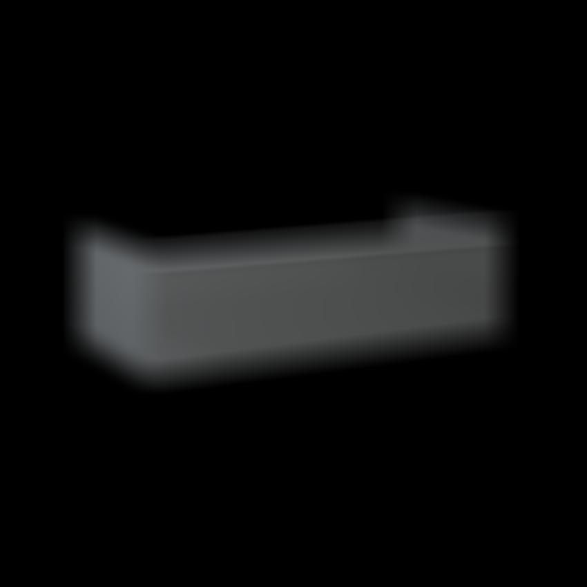 Komoda bez blatu 100 cm szara Elita Look Anthracite