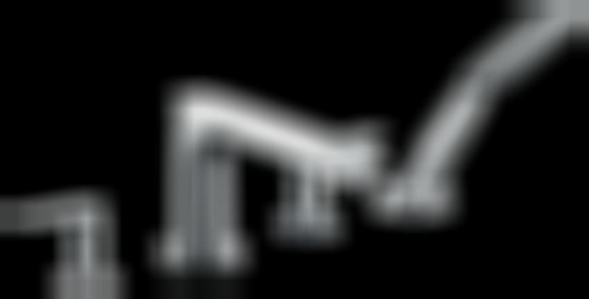 4-otworowa bateria na brzeg wanny element zewnętrzny Hansgrohe Metris