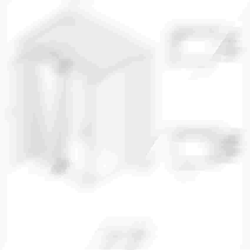Kabina narożna z lustrem weneckim prawa Excellent Colors rysunek techniczny