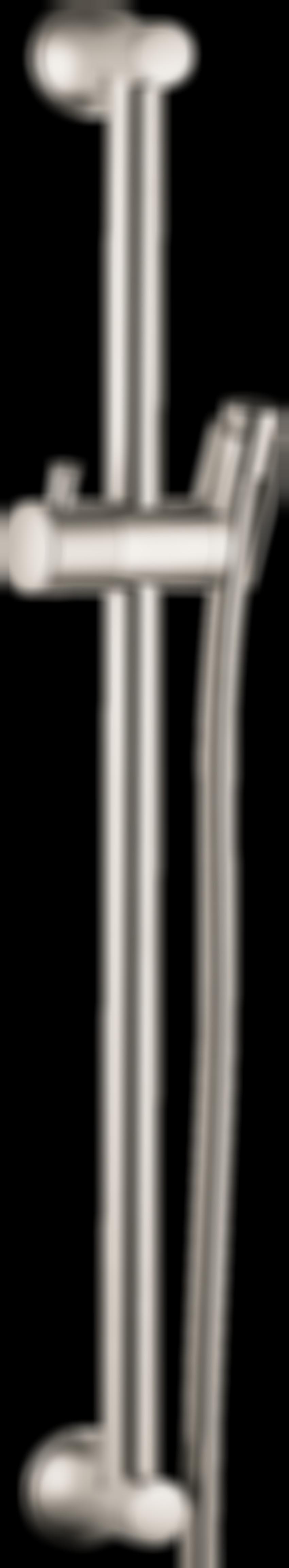 Drążek prysznicowy 65 cm z wężem nikiel szczotkowany Hansgrohe Unica