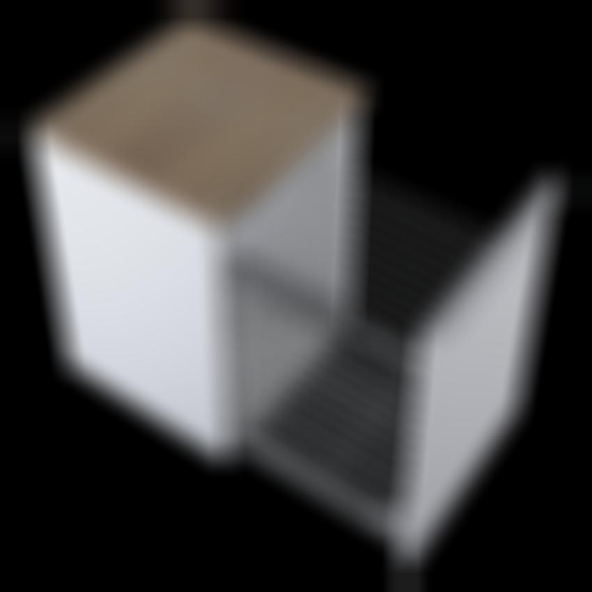 Komoda z koszem Elita Lofty 50 Cargo White