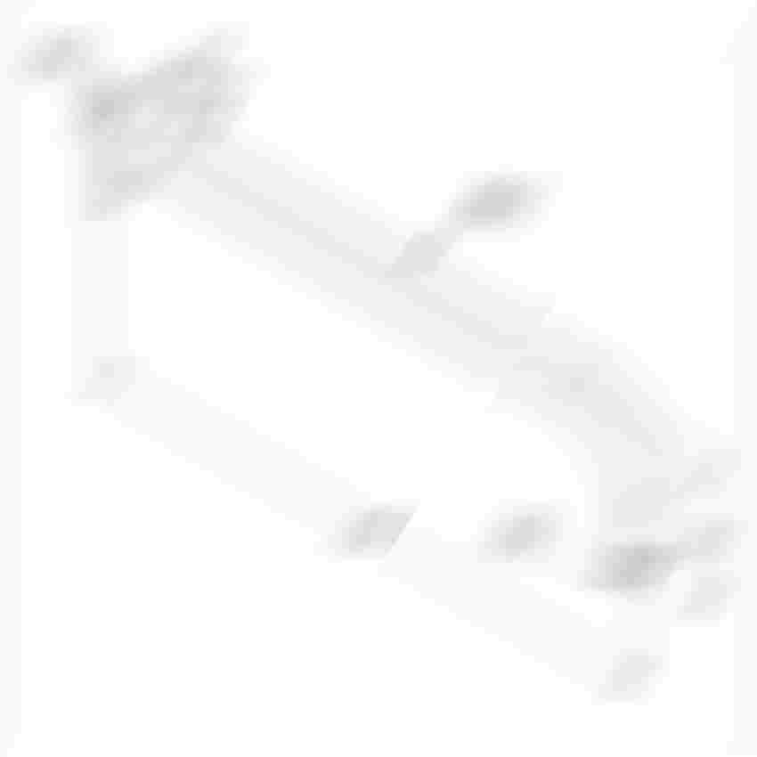 Ramię natrysku biały/chrom 40 cm rysunek techniczny