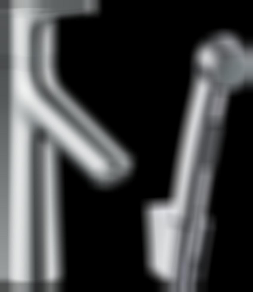 Jednouchwytowa bateria umywalkowa z główką bidetta Hansgrohe Talis S