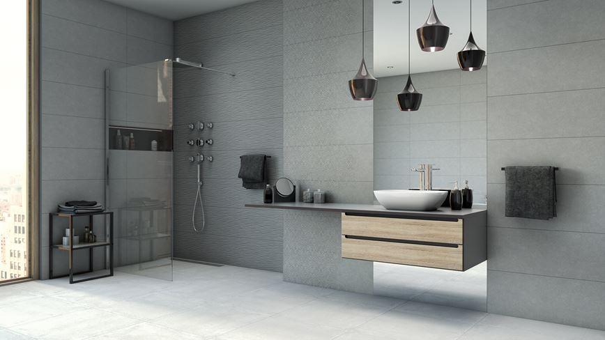 Nowoczesna łazienka z kolekcją Azario Atienet
