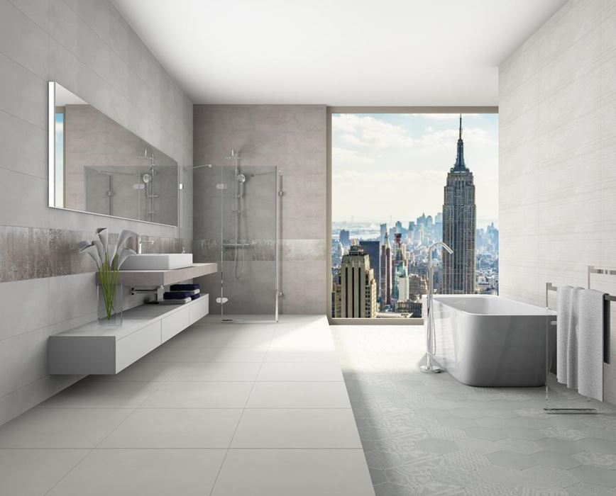 Szara łazienka Azario Neutro