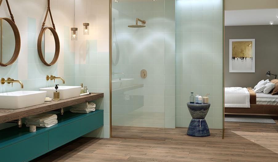 Delikatna łazienka przy sypialni Opoczno Monoblock