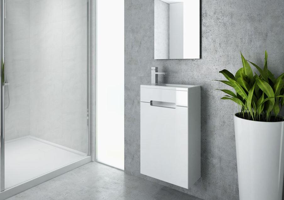 Małe meble łazienkowe New Trendy Micra