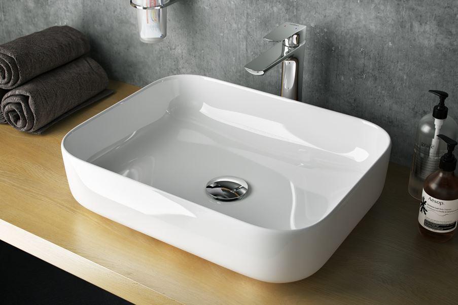 Umywalka nablatowa 51 cm Excellent Cori w łazience