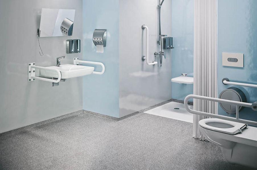 Nowoczesna łazienka dla osób niepełnosprawnych