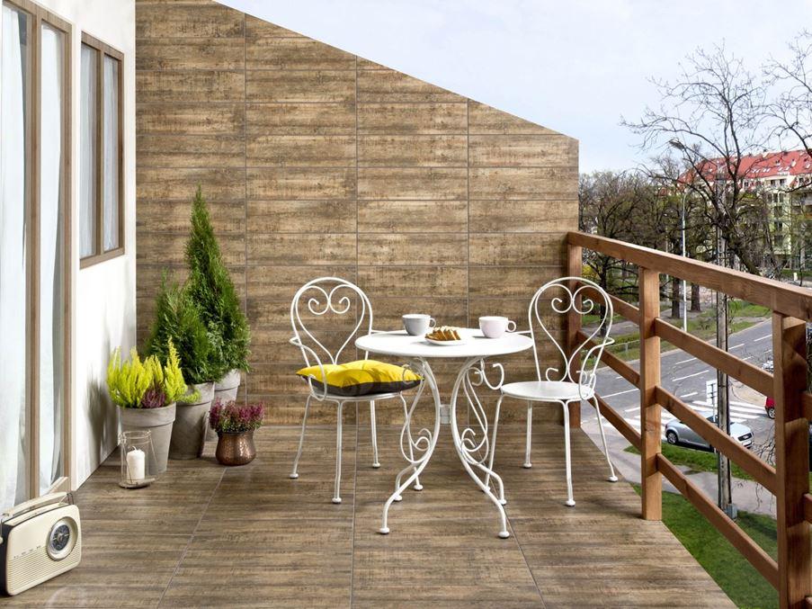 Balkon i płytki drewnopodobne Cerrad Celtis