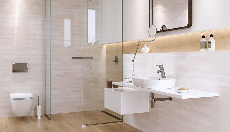 Nowoczesna łazienka w subtelnym wydaniu
