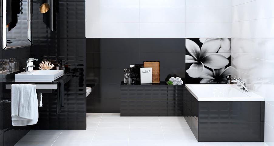 Opoczno Pret-a-Porter / biało-czarna łazienka