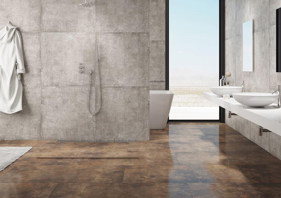 Łazienka w betonowych płytach Cerrad Montego