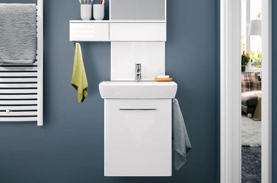 Podwieszana umywalka z szafką Koło Nova Pro