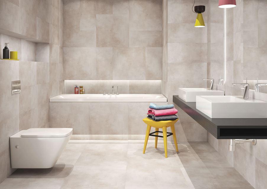 Beżowa łazienka w kolekcji Cerrad Limeria