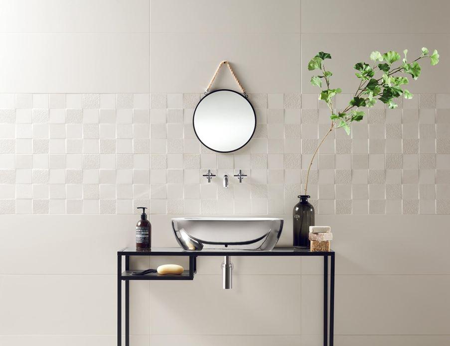 Tubądzin Veridiana white - łazienka minimalistyczna