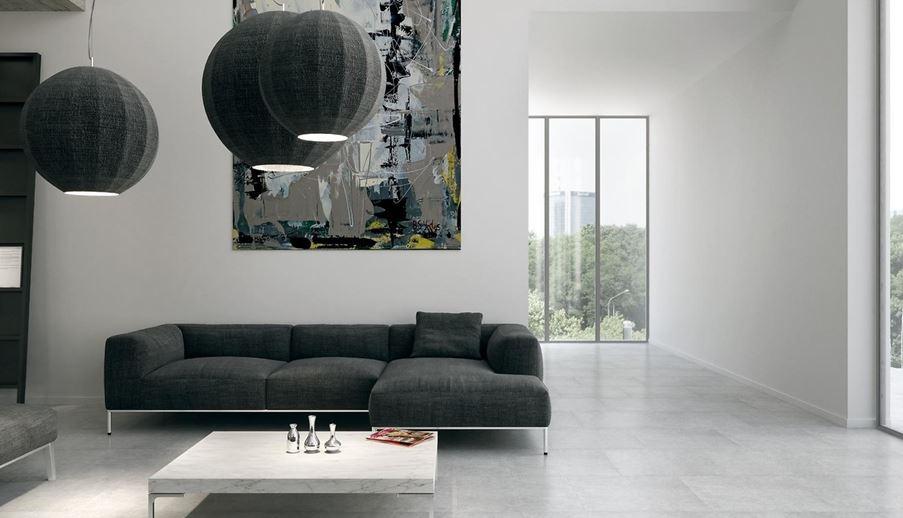 Salon z betonowym wykończeniem Opoczno Dry River