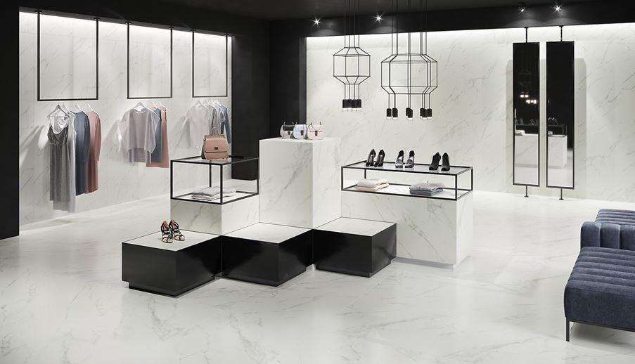 Nowoczesność i marmurowa klasyka Opoczno Calacatta Marble