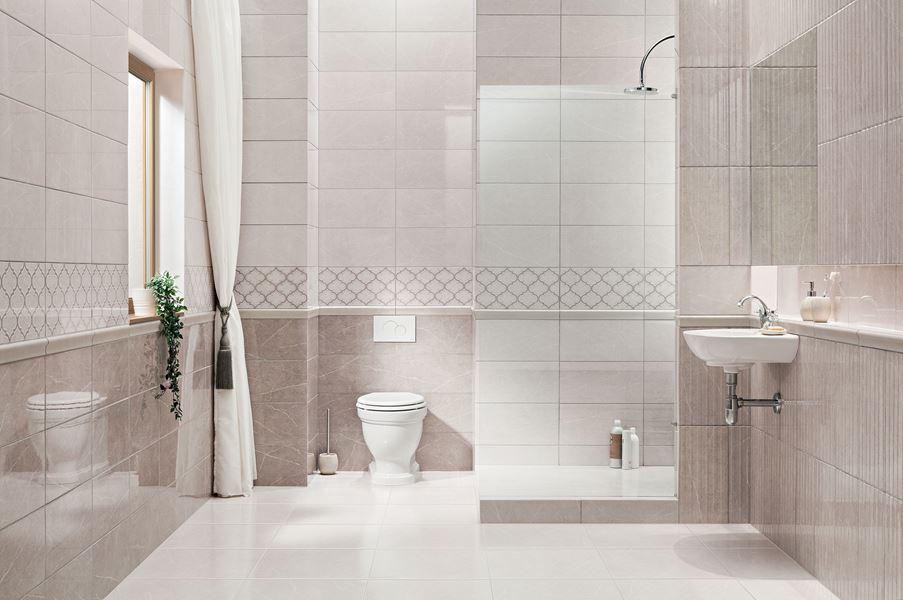 Retro łazienka z ornamentami Domino Braid