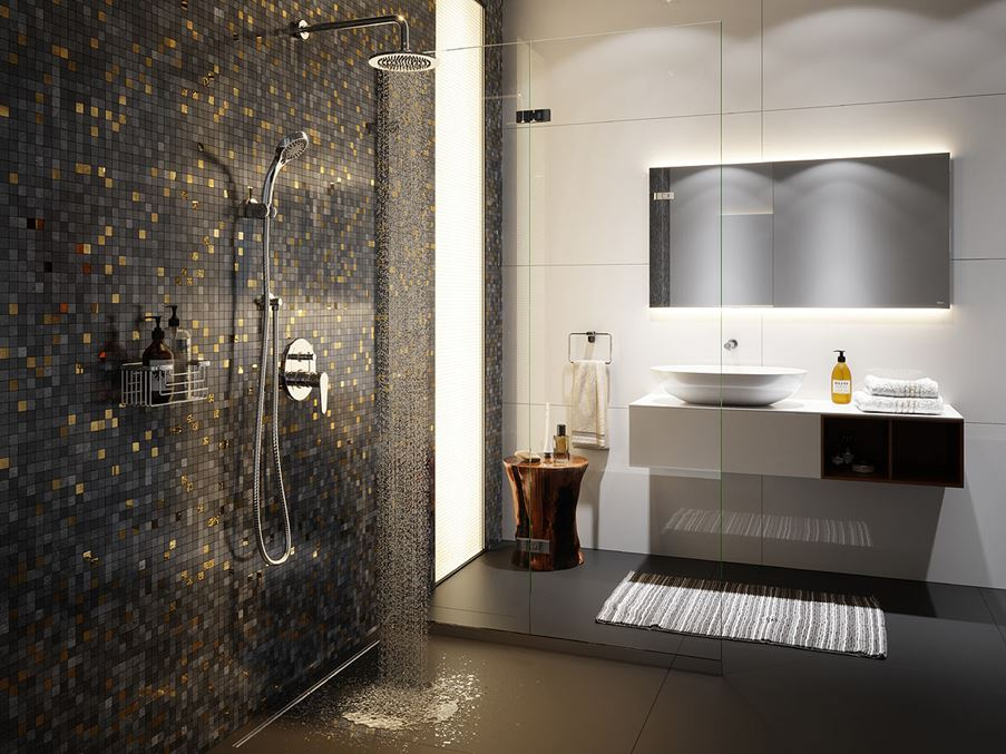 Aranżacja mozaikowej łazienki