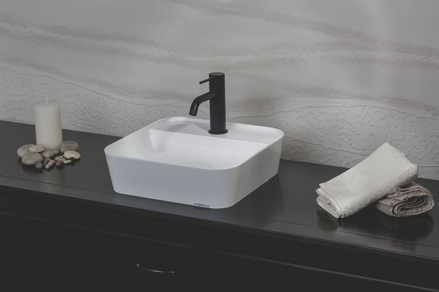 Kwadratowa umywalka Kappala Bolmen