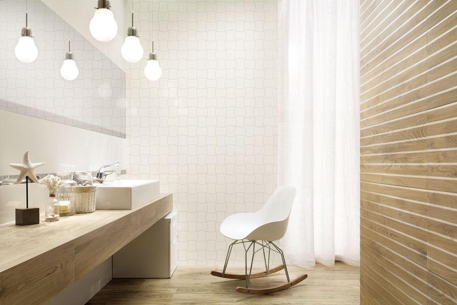 Jasna łazienka z Tubądzin Royal Place