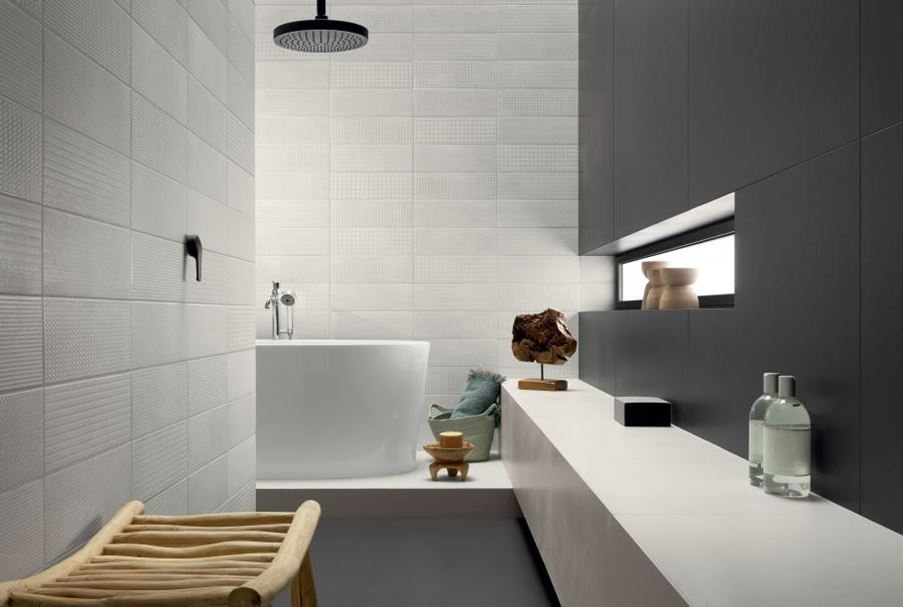 Łazienka ze srebrnym połyskiem Tubądzin Brave