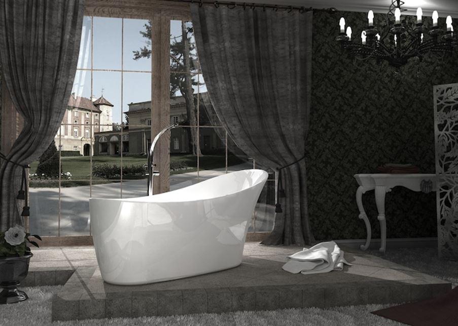 Łazienka glamour z wanną wolnostojcą