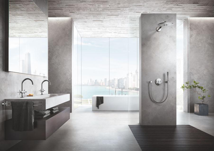 Przestronna łazienka w minimalistycznym stylu