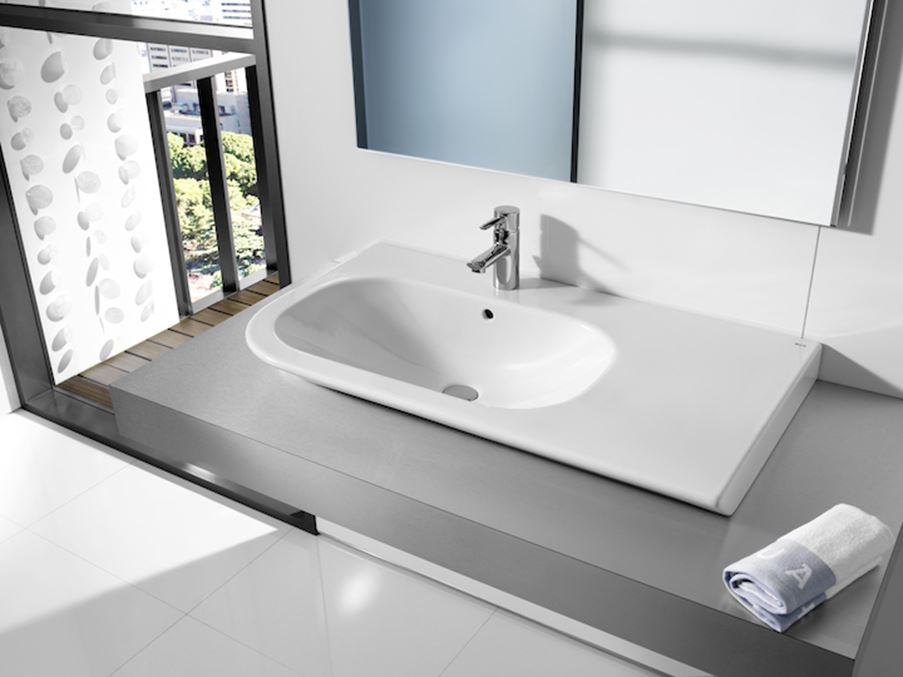 Umywalka z półką Roca seria Nexo