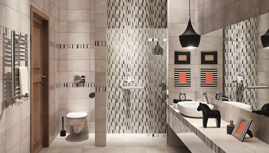 Łazienka z mozaiką Domino Visage