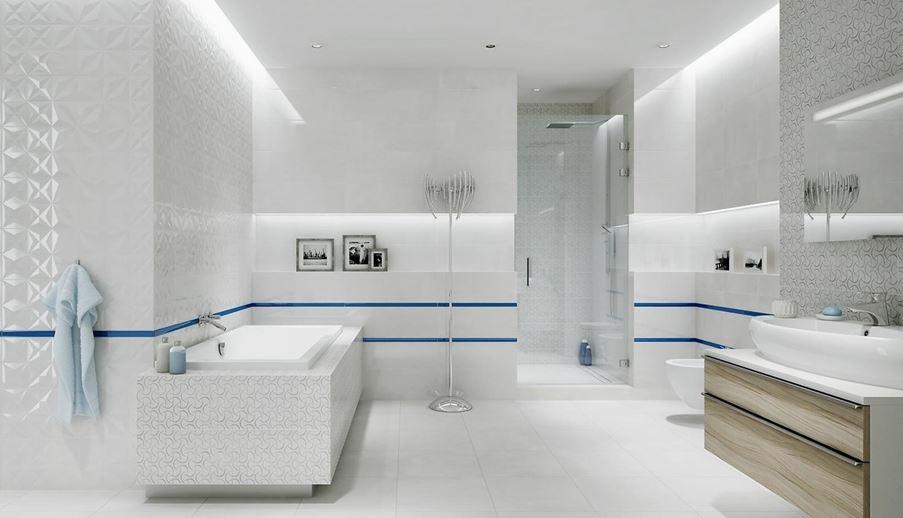 Aranżacja nowoczesnej łazienki w bieli